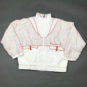 Vtg 90s Le Croq Sportif Retro Windbreaker Jacket